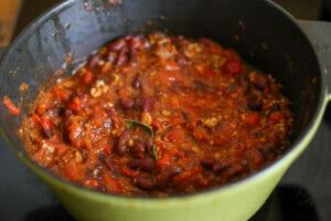 cuisson du chili